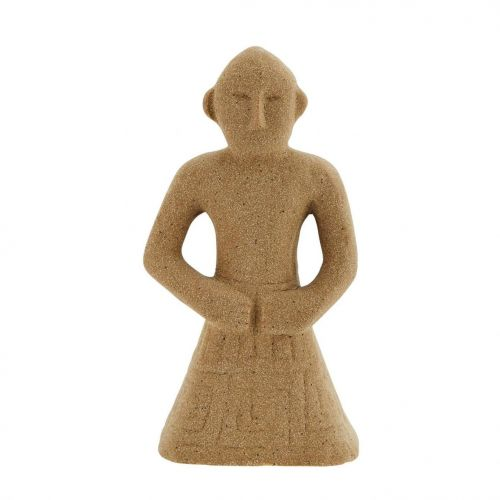 MADAM STOLTZ / Kameninová dekorácia Beige 14,5 cm