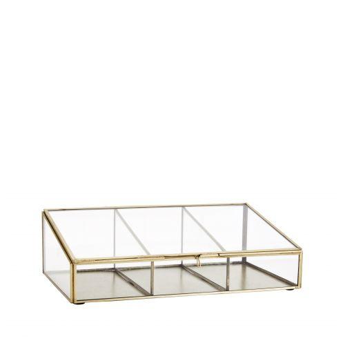 MADAM STOLTZ / Skosený box s priehradkami Antique Brass