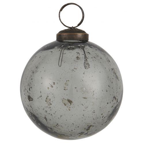 IB LAURSEN / Vianočná ozdoba Pebbled Glass Smoke 8cm