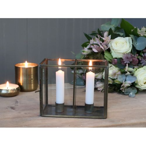 Chic Antique / Svietnik na dve sviečky Glass Box
