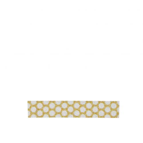 MADAM STOLTZ / Designová samolepící páska Glitter gold/silver dots