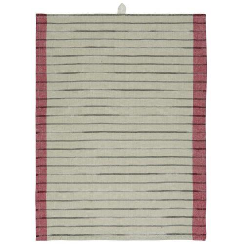 IB LAURSEN / Bavlnená utierka Beige/Red Stripes