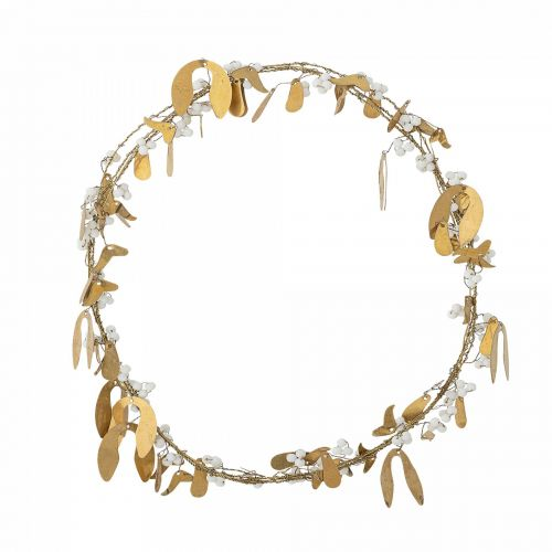 Bloomingville / Vianočný veniec Mistletoe Brass Gold