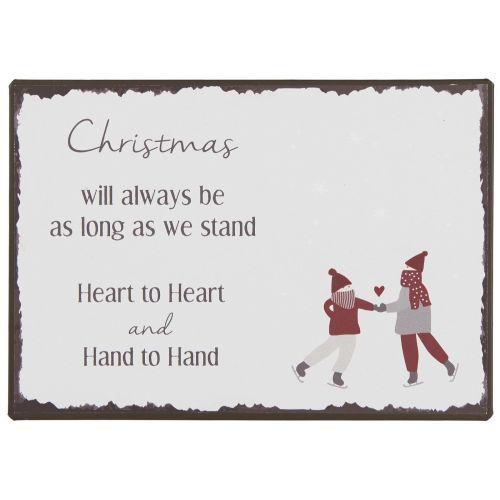 IB LAURSEN / Plechová ceduľa Christmas will always be
