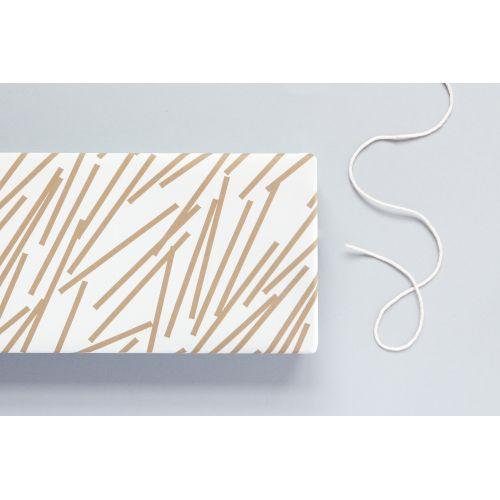 ola / Balicí papír Gold Lines - 50 x 70 cm
