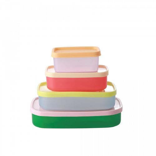 rice / Plastové krabičky Colors - set 4 ks