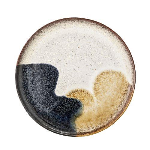 Bloomingville / Kameninový tanier Jules Blue/Cream/Sand