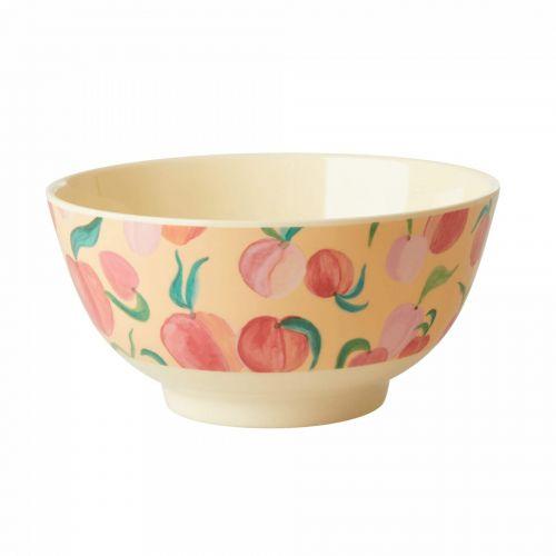 rice / Melamínová miska Peach Print