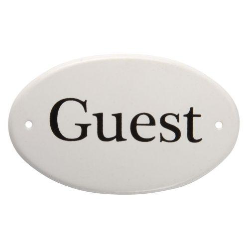 IB LAURSEN / Plechový štítok Guest