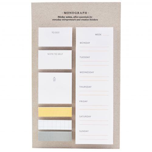 MONOGRAPH / Sada lepiacich papierikov Calendar