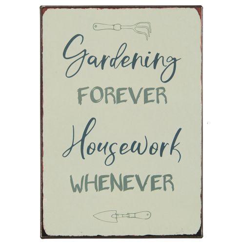 IB LAURSEN / Plechová ceduľa Gardening forever