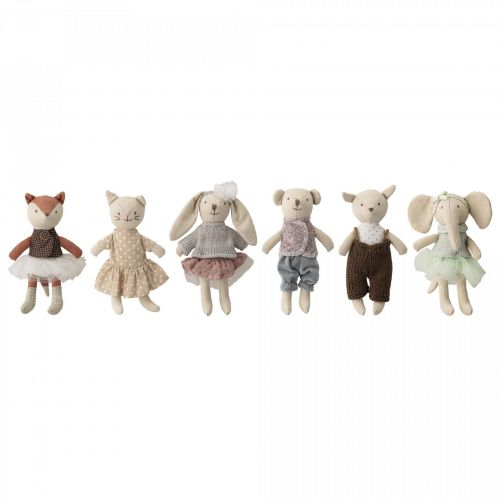 Bloomingville / Textilné hračky Animals – set 6 ks