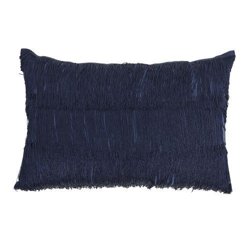 Bloomingville / Vankúš so strapcami Blue 40x60 cm