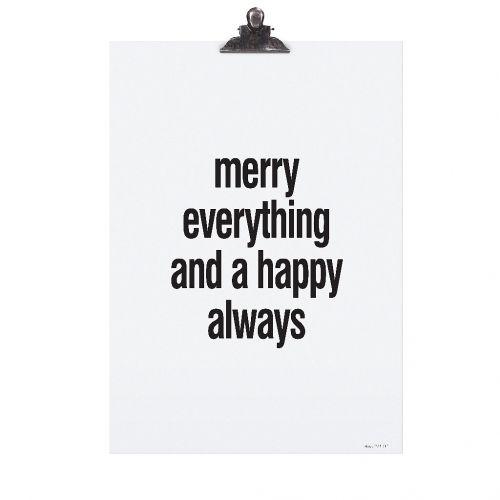 TAFELGUT / Plagát Merry Everything 30x42 cm
