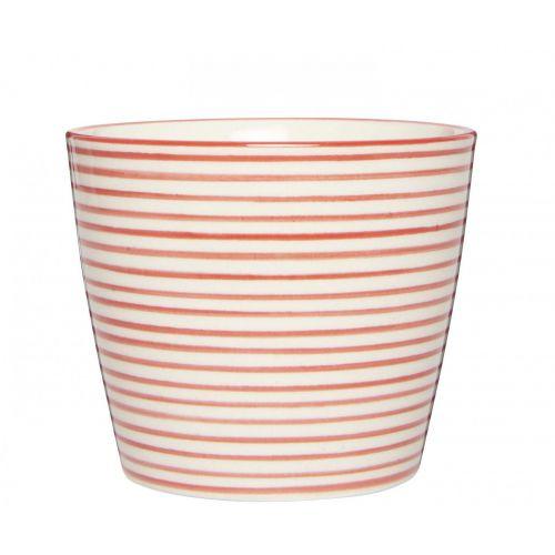 IB LAURSEN / Latte cup Casablanca Red Stripes