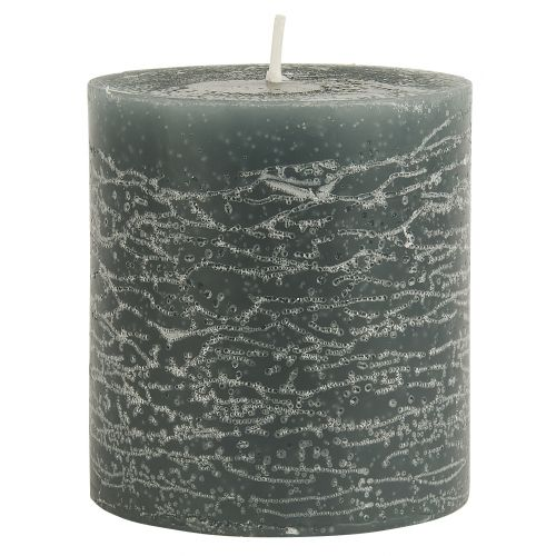 IB LAURSEN / Okrúhla sviečka Rustic Moss Green 7,5 cm