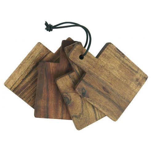 IB LAURSEN / Sada 4 servírovacích doštičiek Acacia Wood