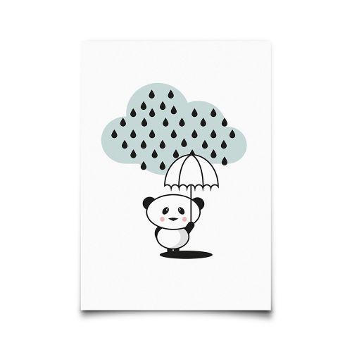 EEF lillemor / Pohľadnica Panda Rain A6