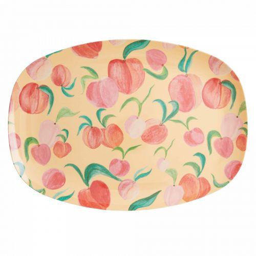 rice / Melamínová tácka Peach Print