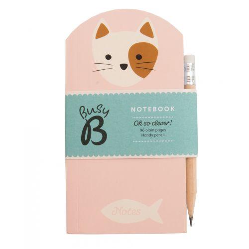 Busy B / Poznámkový bloček s tužkou Cat Cute