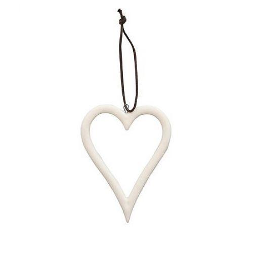 Krasilnikoff / Porcelánová vianočná ozdoba White Heart