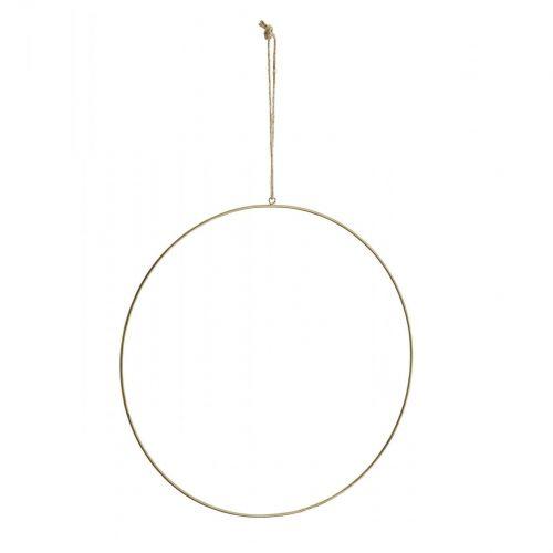 MADAM STOLTZ / Závesný mosadzný dekoratívny kruh 40 cm