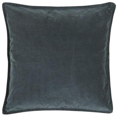 IB LAURSEN / Zamatová obliečka na vankúš Historical Blue 52x52cm