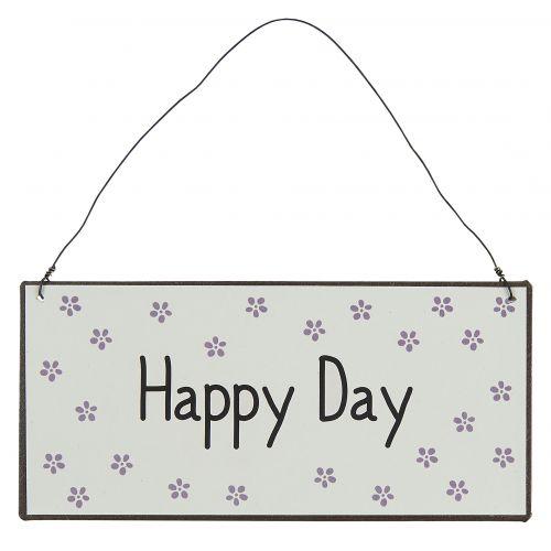 IB LAURSEN / Závesná kovová ceduľa Happy Day