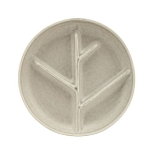 House Doctor / Kameninový servírovací tanierik Branch Grey 17 cm