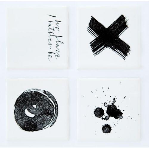 Ylva Skarp / Podtácka Black print 19x19 cm