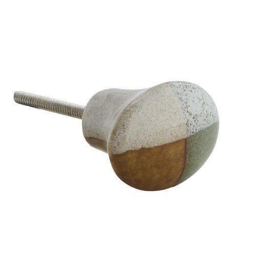MADAM STOLTZ / Porcelánová úchytka Oval Doorknob