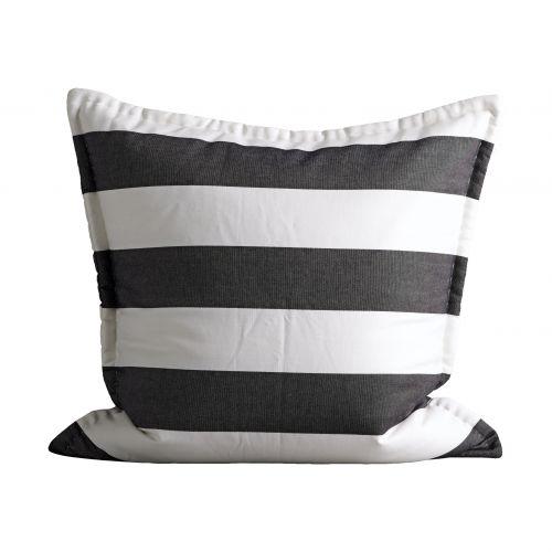 Tine K Home / Obliečka na vankúš Black White 60x60cm
