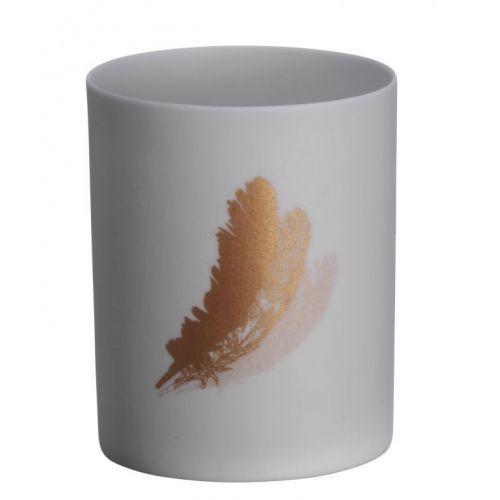 MADAM STOLTZ / Porcelánový svietnik Feather