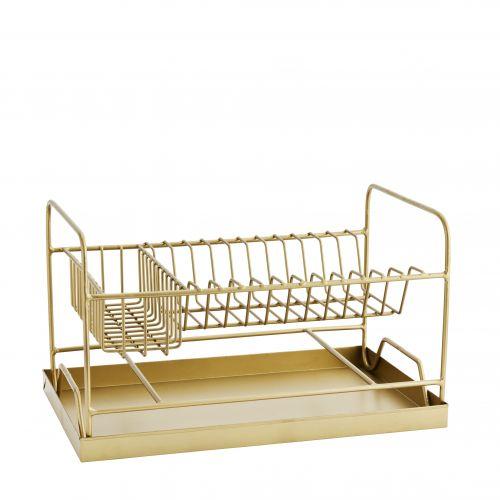 MADAM STOLTZ / Odkvapkávač na riad Gold Dish Rack