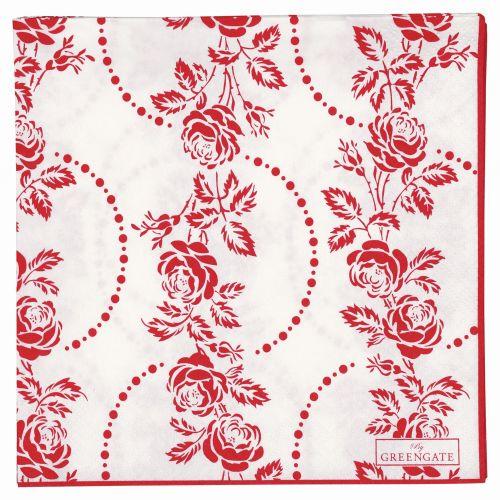 GREEN GATE / Papierové obrúsky Fleur red