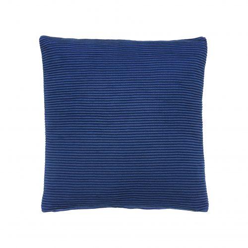 Hübsch / Bavlnený modrý vankúš 52 x 52 cm