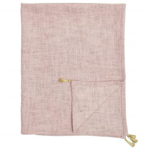 Bloomingville / Detská deka Rose Gold 110x80 cm