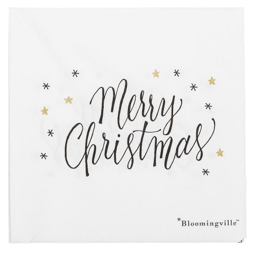 Bloomingville / Vianočné servítky Noel white