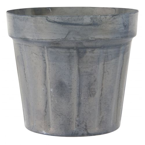 IB LAURSEN / Kovový obal na kvetináčik Pot Plain Grooves