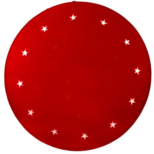 STAR TRADING / Svietiaci koberec pod stromček Stars Red