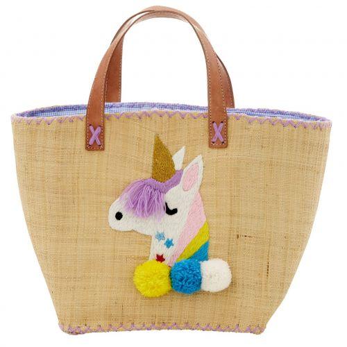 rice / Taška z rafie Unicorn bag