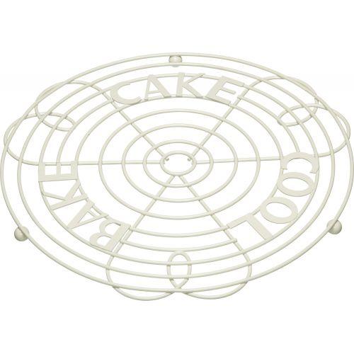 Kitchen Craft / Kovová podložka pod hrniec Cream 30 cm