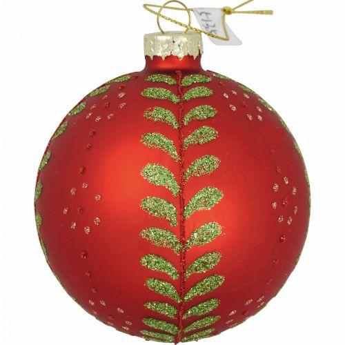 GREEN GATE / Sklenená vianočná ozdoba Christmas Red 8 cm