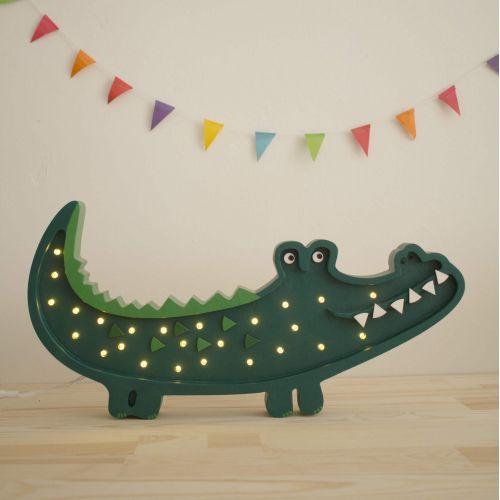 Little Lights / Detská LED lampička Crocodile Green