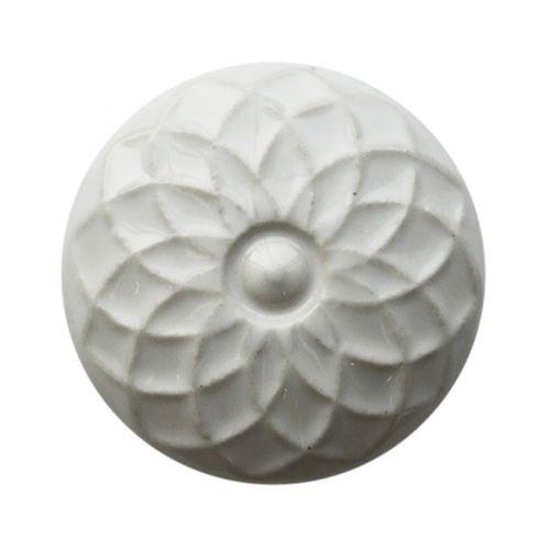Chic Antique / Keramická úchytka White Flower
