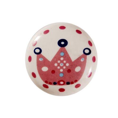 La finesse / Porcelánová úchytka Pink Crown