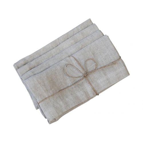 Chic Antique / Ľanový obrúsok Nature 40×40 cm - set 4 ks