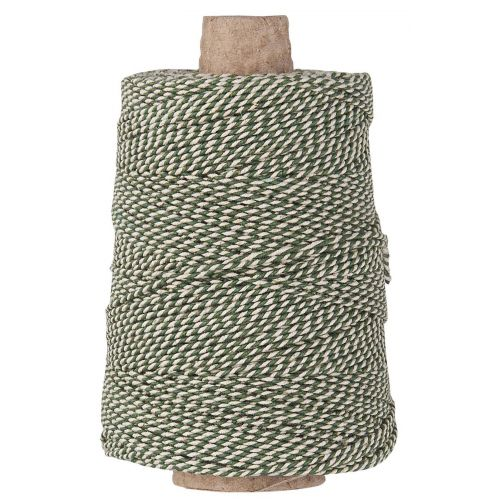 IB LAURSEN / Bavlnený špagátik String Green/White 10 m