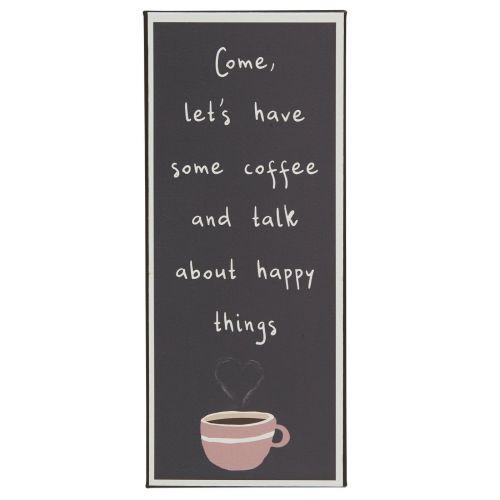 IB LAURSEN / Plechová ceduľa Come, let's have some coffee