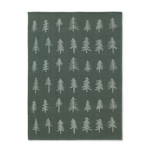 ferm LIVING / Vianočná bavlnená utierka Dark Green Tree